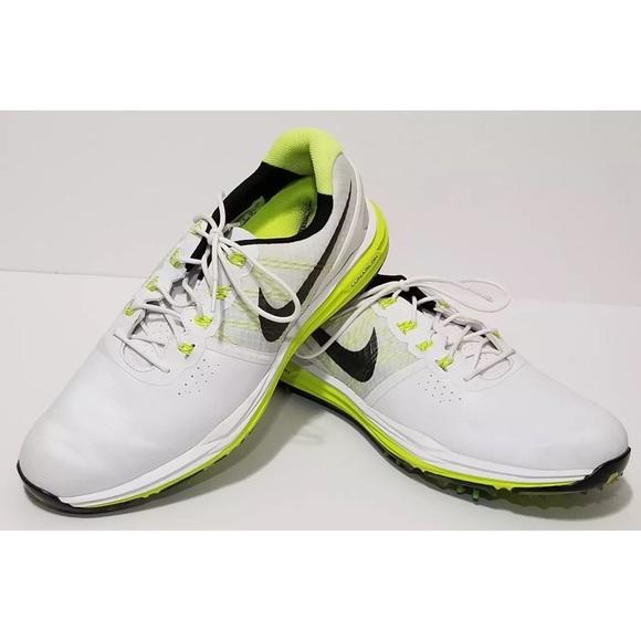 Menos Acusador mucho  Nike Shoes | Nike Lunarlon White Neon Green Golf Shoes Sz | Poshmark